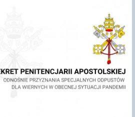 Stolica Apostolska udziela odpustu specjalnego wiernym dotkniętym pandemią koronawirusa