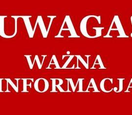 Komunikat w związku z wprowadzeniem stanu zagrożenia epidemicznego w Polsce