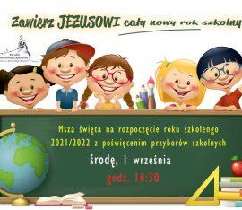 Rozpoczęcie nowego roku szkolnego 2021/2022